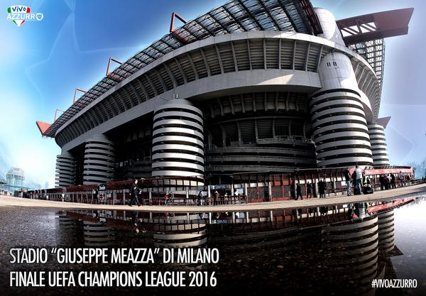 La Final de la Champions League 2016 será en el Estadio Giuseppe Meazza de Milán