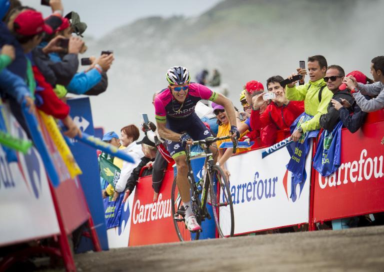 Alberto Contador llegó de cuarto en la 15ª Etapa de La Vuelta a España 2014