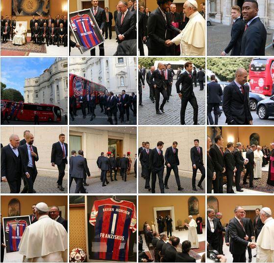 Papa Francisco fue visitado por los jugadores del FC Bayern de Múnich