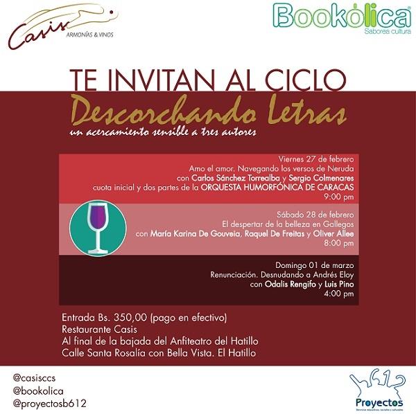 Bookólica y Restaurante Casis inician ciclo cultural en El Hatillo
