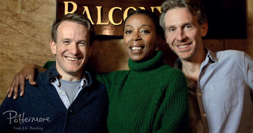 Jamie Parker, Noma Dumewezni y Paul Thornley