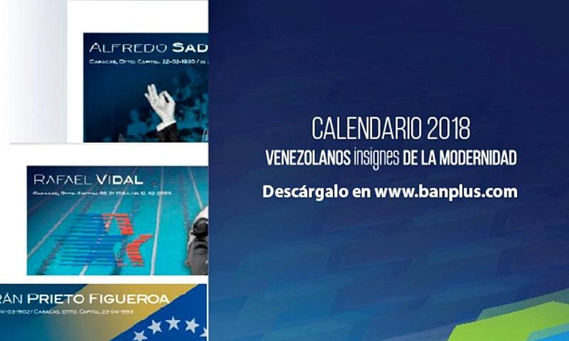 Diego-Ricol-Calendario-Banplus-2018-Venezolanos-Insignes-de-la-Modernidad