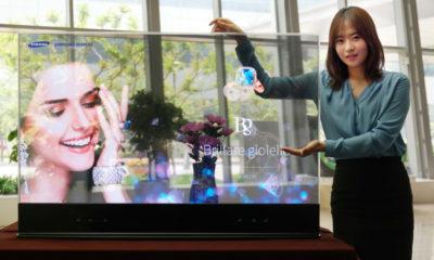"""Conoce a """"The Window"""" el primer televisor transparente de Samsung"""